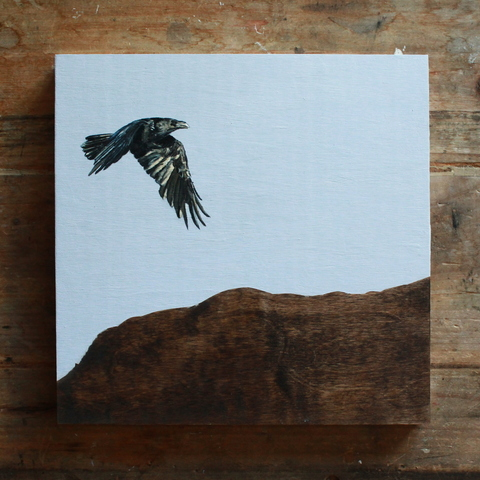 BRENDAN DONLEAVY raven paintings Oil on Panel