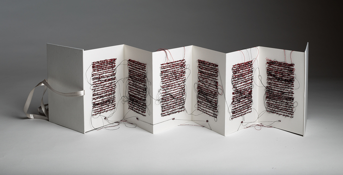 books and book pages Untitled (redblack1) back