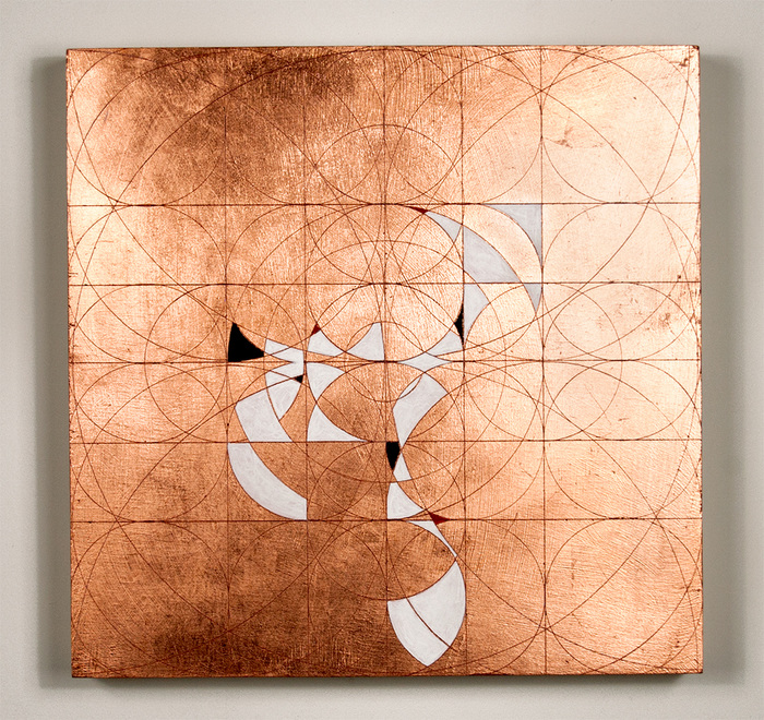 Copper leaf paintings Shuval