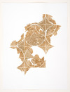 burning and gilding Burn and gold leaf on paper