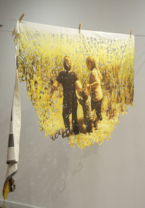 Caravana textile works Dye sublimation print on laser cut blanket