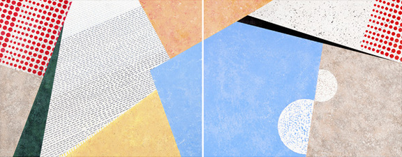 d o r i s   e r d m a n         ARCHITECT/ARTIST templates diptych acrylic on canvas