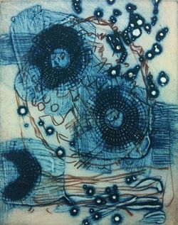 DOROTHY COCHRAN Etchings Encaustic  Collagraph