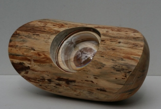 Douglas Culhane Sculpture Wood, glass & copper
