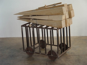 Douglas Culhane Sculpture wood, steel & rope