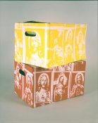 Greg Drasler Jesus Wallpaper latex on cardboard
