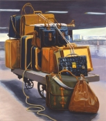 Greg Drasler Baggage Paintings oil on canvas