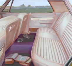 Greg Drasler On the Lam oil on linen