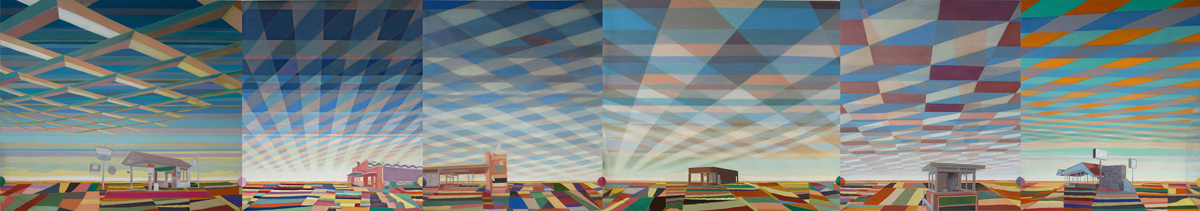 Greg Drasler Road House  oil on linen  6 panels