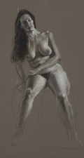 David Philips Drawings Charcoal & White chalk on toned paper