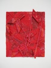 Edmund Chia 2011-a Acrylic, sand, wood, twine on canvas