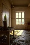 EGON ZIPPEL Bottle Destruction Room Space, empty bottles, throwing
