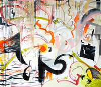 EGON ZIPPEL Ornamental / Technoid / Insectoid Acrylic, dispersion and household paint on canvas