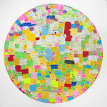 EGON ZIPPEL Self-Creating Drawings: Post-its Post-its on canvas