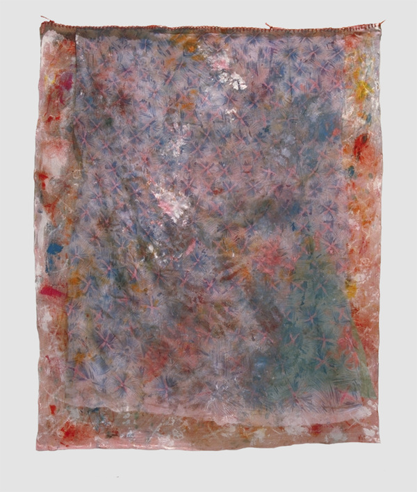 Eileen Hoffman DRAPES mixed media on fabric