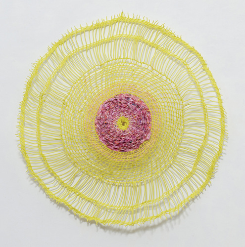 Eileen Hoffman ROSETTES chenille pipe cleaners and fabric