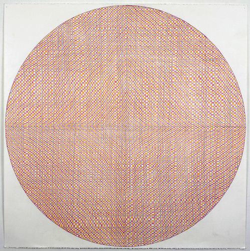 Eileen Hoffman STITCH WEAVE Colored pencil on paper