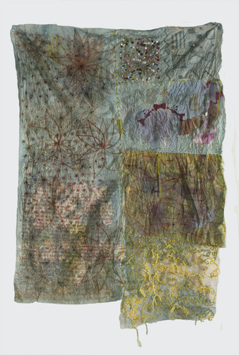Eileen Hoffman DRAWN mixed media on fabric