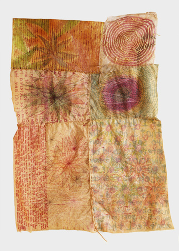 Eileen Hoffman EMPROIDERY mixed media on fabric