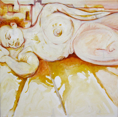 Eileen Mislove Snapshots oil on canvas