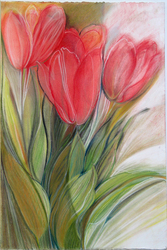 Eileen Mislove Flowers - Still Lifes Pastel on Paper