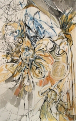 Eileen Mislove Floral Abstractions Acrylic on Paper