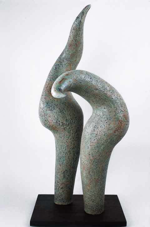 Elaine Lorenz Birds of a Feather Ceramic, glazed