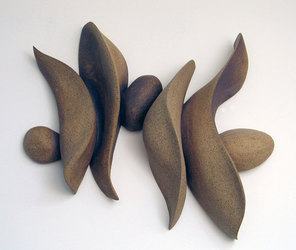 Elaine Lorenz Wall Sculptures Unglazed Ceramic