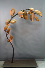 Elaine Lorenz Seed Pod Series Ceramic, resin, steel