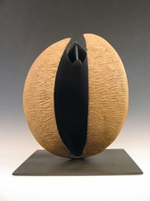 Elaine Lorenz Seed Pod Series Ceramic, steel, paint