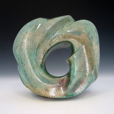 Elaine Lorenz Portals Ceramic, Raku glazed and fired