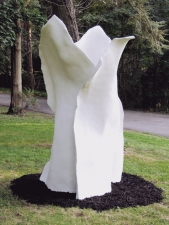 Elaine Lorenz Outdoor Sculpture Steel, white portland cement, sand
