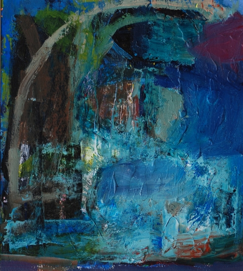 elaine souda Paintings:  Blue Notes Acrylic on Paper