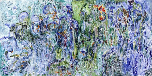 ELENI SMOLEN Biophilia Beginnings oil and mixed media on gessoed paper