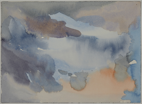 Jay, NY: Watercolors 2015 Storm Over