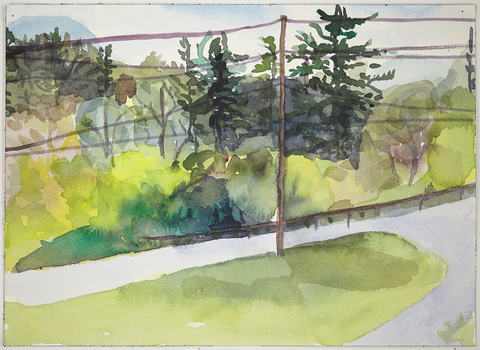 Jay, NY: Watercolors 2015 Orra's Road
