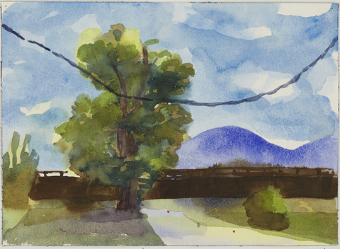 Jay, NY: Watercolors 2015 Tree Line Highway