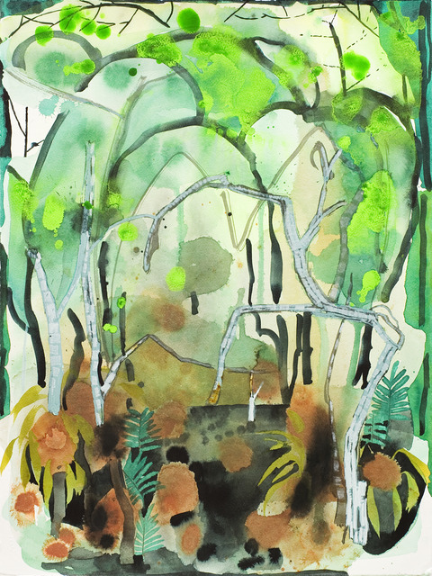 Florida Everglades: Watercolors 2016 Swamp Study VI: Memory