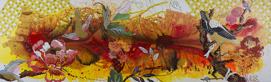 Elisabeth Condon PAINTINGS Ink, acrylic, glitter on linen