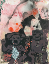 Elisabeth Condon W/C AND INK. WARRIORS & GODDESSES 2018 Chinese ink, ink, watercolor and acrylic on paper
