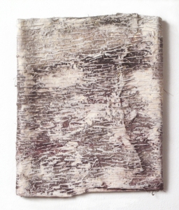 Elisa D'Arrigo Folded and Sewn Paper Works handmade paper, thread, acrylic paint