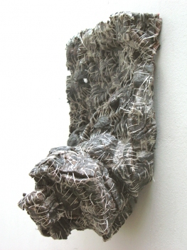 Elisa D'Arrigo Sewn and Constructed Cloth and Paper Works paper, thread, acrylic paint