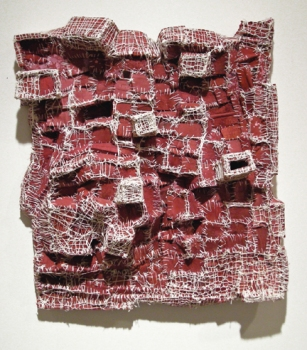 Elisa D'Arrigo Sewn and Constructed Cloth and Paper Works cloth, acrylic paint, thread