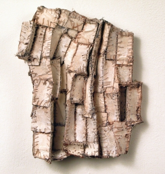 Elisa D'Arrigo Sewn and Constructed Cloth and Paper Works paper, cloth, thread, acrylic paint