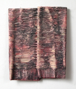 Elisa D'Arrigo Folded and Sewn Paper Works paper, thread. acrylic paint