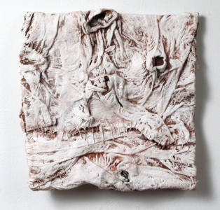 Elisa D'Arrigo Folded and Sewn Paper Works handmade paper, pigments, acrylic paint, thread