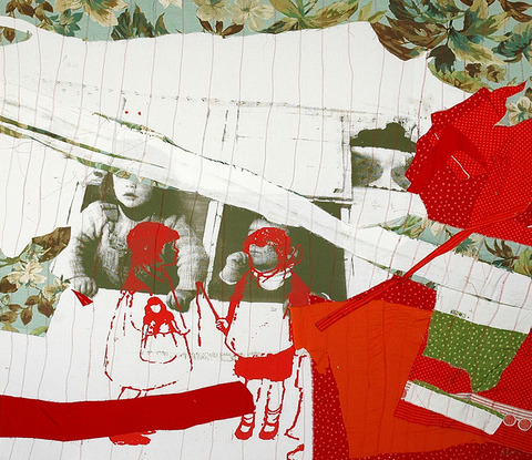 ELISA GARCIA DE LA HUERTA Mute. Muda/ Early Work (2004-2008) Textile Silkscreen on collaged of fabric mounted on canvas