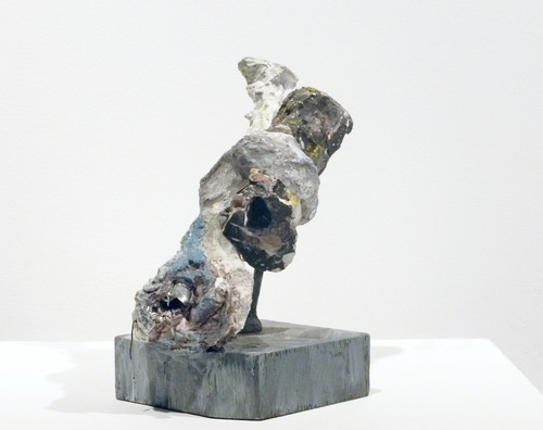 Selected Small Sculptures: The Queries plaster, papier mache, metal, wood, paint, acrylic medium