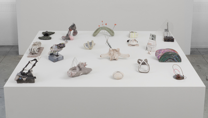 Selected Small Sculptures: The Queries mixed media
