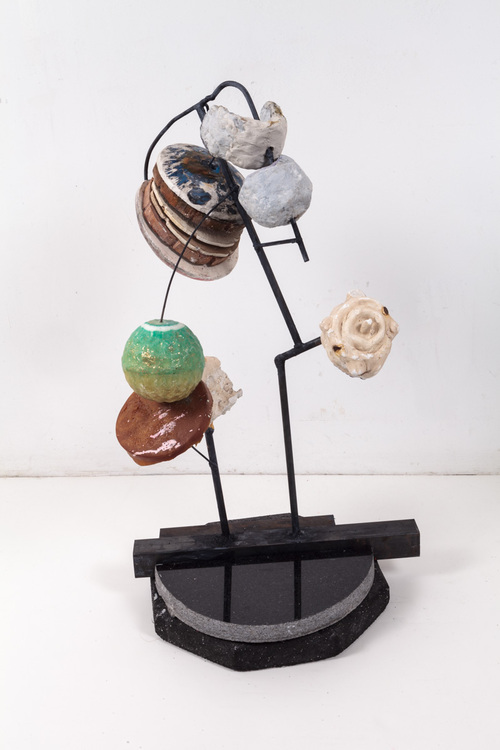 Moon of the Moon  Steel, wood, marble, rubber, plaster, papier mache, acrylic and oil paint
